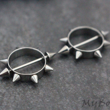Spiky Nipple Rings