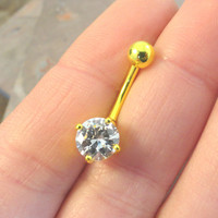 Golden Yellow Belly Button Rings Belly Button Jewelry