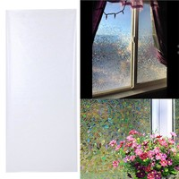 45x100cm 3D Static Cling Removable Window Film Decorative Frosted Privacy Glass Sticker Bathroom Slide Door Film