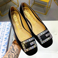GUCCI New Fashionable Women Crystal Single Shoes