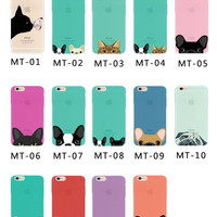 Girllove100  Welcome to take your pets home,cute pet phone case for iphone 4 4s 5 5s 6 6s 6plus 7 7plus(MT-11-MT15)