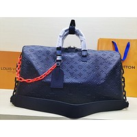 Louis Vuitton LV Women Travel Bag Leather Luggage Travel Bags