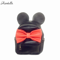 DDB04 Mickey Backpack Preppy Style Female Bag Quality PU Leather Women Mochila Mickey Mouse Ears School Bags For Teenagers Girls