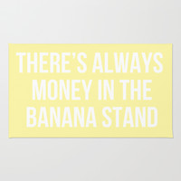 There's Always Money in the Banana Stand - Arrested Dev Inspired Rug by Rachel Additon
