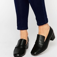 Park Lane High Vamp Leather Loafers at asos.com