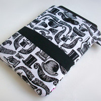 iPad Case / Steampunk / Mustache iPad Case / Victorian Moustache / iPad Air Sleeve / Tablet Cover / iPad Cover / Mustaches / Pop Up Shop