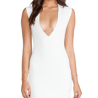 AQ/AQ Sparta Mini Dress in White