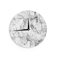 "Chelsea Victoria ""Marble No 2 "" Black Modern Wall Clock"