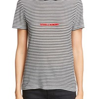 Saint Laurent Logo Stripe Tee | Nordstrom