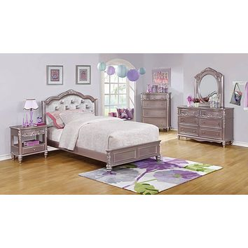 G400890 - Caroline Bedroom Set - Metallic Lilac And Grey
