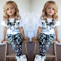 Baby Girls Qoute Outfit Clothes