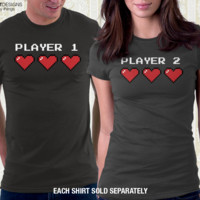 Player 2 Couples T Shirt