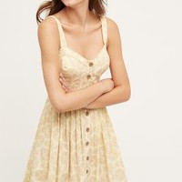 Maeve Cafe Dress in Neutral Motif Size: