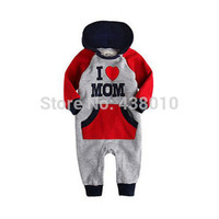 Baby Newborn I Love Mam Dad Costume Baby Girls Boys Jumpsuit clothing 2015 Winter Romper Body baby clothes