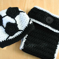 Soccer outfit for baby, Baby soccer outfit, newborn soccer hat and diaper cover, soccer hat for baby boy, soccer hat for baby girl