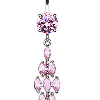 Crystal Tier Belly Button Ring