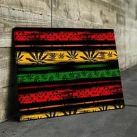 Abstract Weed Canvas Set