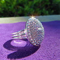 "Twilight ""Bella Ring"" covered in beautiful Swarovski Crystals, Breaking Dawn, Bella's ring, bling, beautiful, jewelry, pave, Crystal Icing"