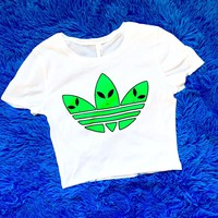 The Alien Adidas Crop Top