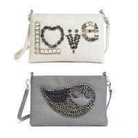 Beaded & Gold Motif Leather Bags @ Lushlee
