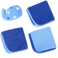 Babies R Us 3-Pack Washcloth and Toy Set - Whale