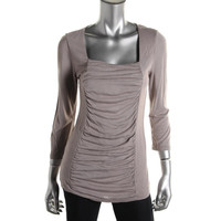 INC Womens Ruched 3/4 Sleeves Tunic Top