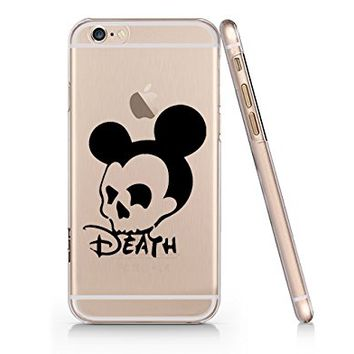 Death Mickey Skull Slim Iphone 6 6s Case, Clear Iphone Hard Cover Case For Apple Iphone 6 6s Emerishop (NLA186.6sl)