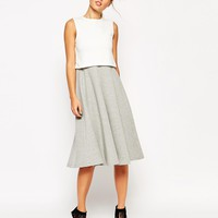 ASOS Structured Skater Dress with Overlay in Color Block
