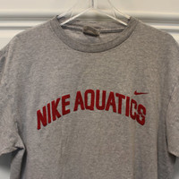 Vintage // Nike // T-Shirt // Aquatics // Swimming // T-Shirt // Crew Neck // Grey // Medium