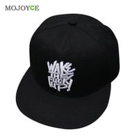 Fashion Men Bboy Brim Adjustable Baseball Cap Snapback Hip-Hop Hat Unisex Stitchwork Baseball Hats Adjustable Hats SN9