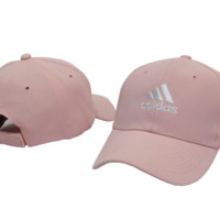 Trendy Pink Adidas Embroidery Baseball Cap Hats