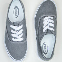 Classic Canvas Plimsolls Sneakers in Grey