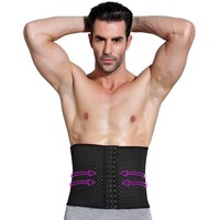 NINGMI Mens Slimming Belt Waist Trainer Party Pulling Underwear Strap Corsets Males Modeling Body Shapers Tummy Trimmer Cincher