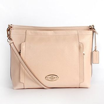 Coach 34312 Pebble Leather Scout Hobo Apricot