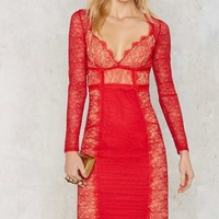 Nasty Gal Must Be the Lace Dress - Red