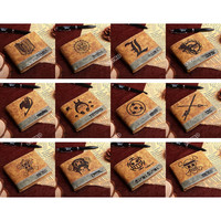 PU wallet of Various Anime