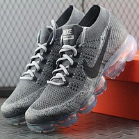 Tagre™ ONETOW Best Online Sale Nike Air VaporMax Vapor Max 2018 Flyknit Men Grey Sport Running Shoes 849558 004