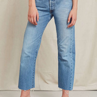 Urban Renewal Recycled Frayed Cropped Levi's Jean   Urban Outfitters