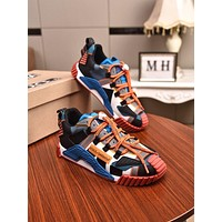 DOLCE&GABBANA Men Fashion Boots fashionable Casual leather Breathable Sneakers Running Shoes