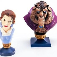 Disney WDCC BELLE & BEAST bust Beauty and the Beast Figure Statue