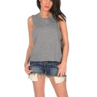 Chaser Womens Muscle Crop Top: Amazon.com: Clothing