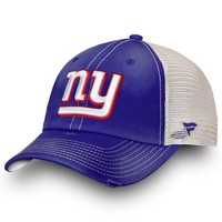 Men's New York Giants NFL Pro Line by Fanatics Branded Royal/Natural True Classic Trucker Adjustable Snapback Hat