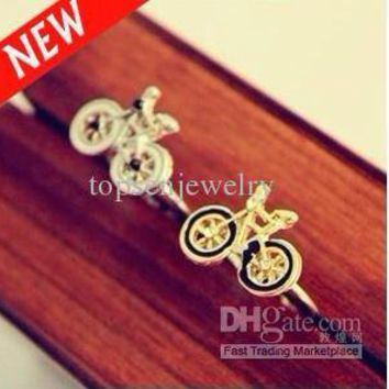 Fashion Bicycle Ring With White And Black Bike Rings Free Shipping