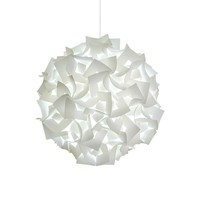 Deluxe Squares Hanging Pendant Light - LED Cool white glow