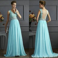 Fashion Prom Dress Ladies Sexy Sleeveless Backless Maxi Dress Formal Evening Party Date Cocktail Ball Gown Dress Customized Bridesmaid Dress = 5841922369
