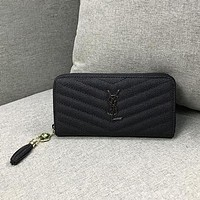 YSL hot sale classic women long zipper wallet coin purse key bag lady handbag