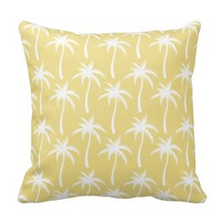 White Palm Trees - Tropical Pillow