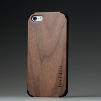 Wooden iPhone 4/4C Cover // Walnut