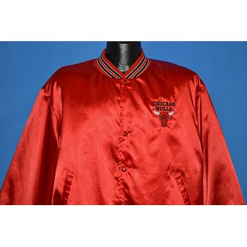 90s Chicago Bulls Red Satin Swingster Jacket Extra Large