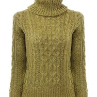 Green Jumper with High Neck